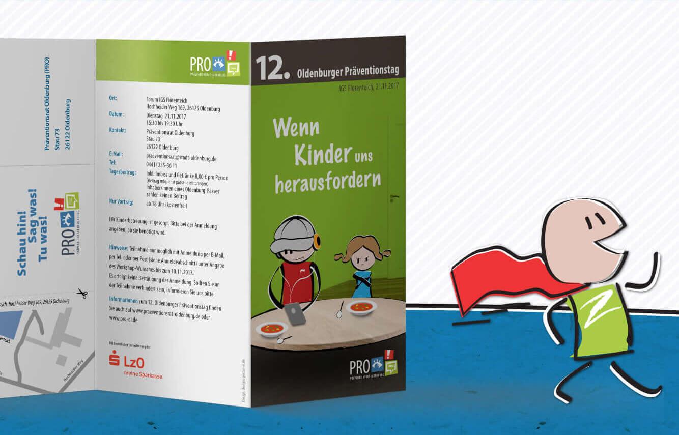 PRO Präventionstag Oldenburg 3 Seiter Flyer