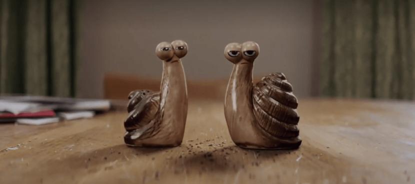 Bild von 2 animierten Schnecken