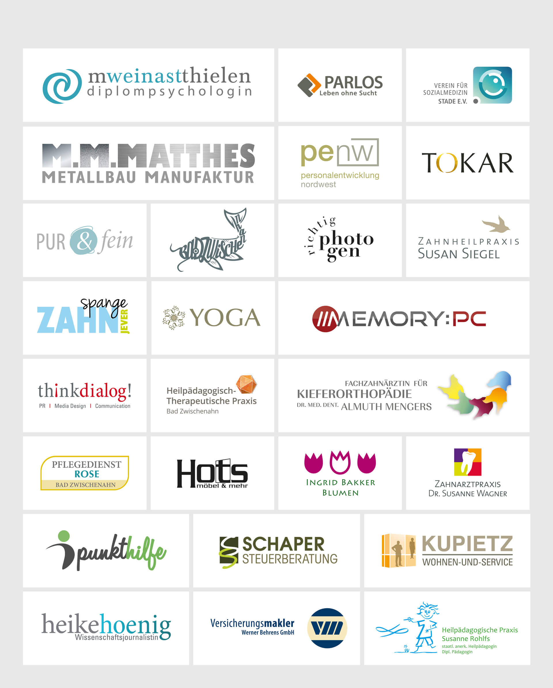 Grafik Designagentur Hespen Kunden Logo Varianten