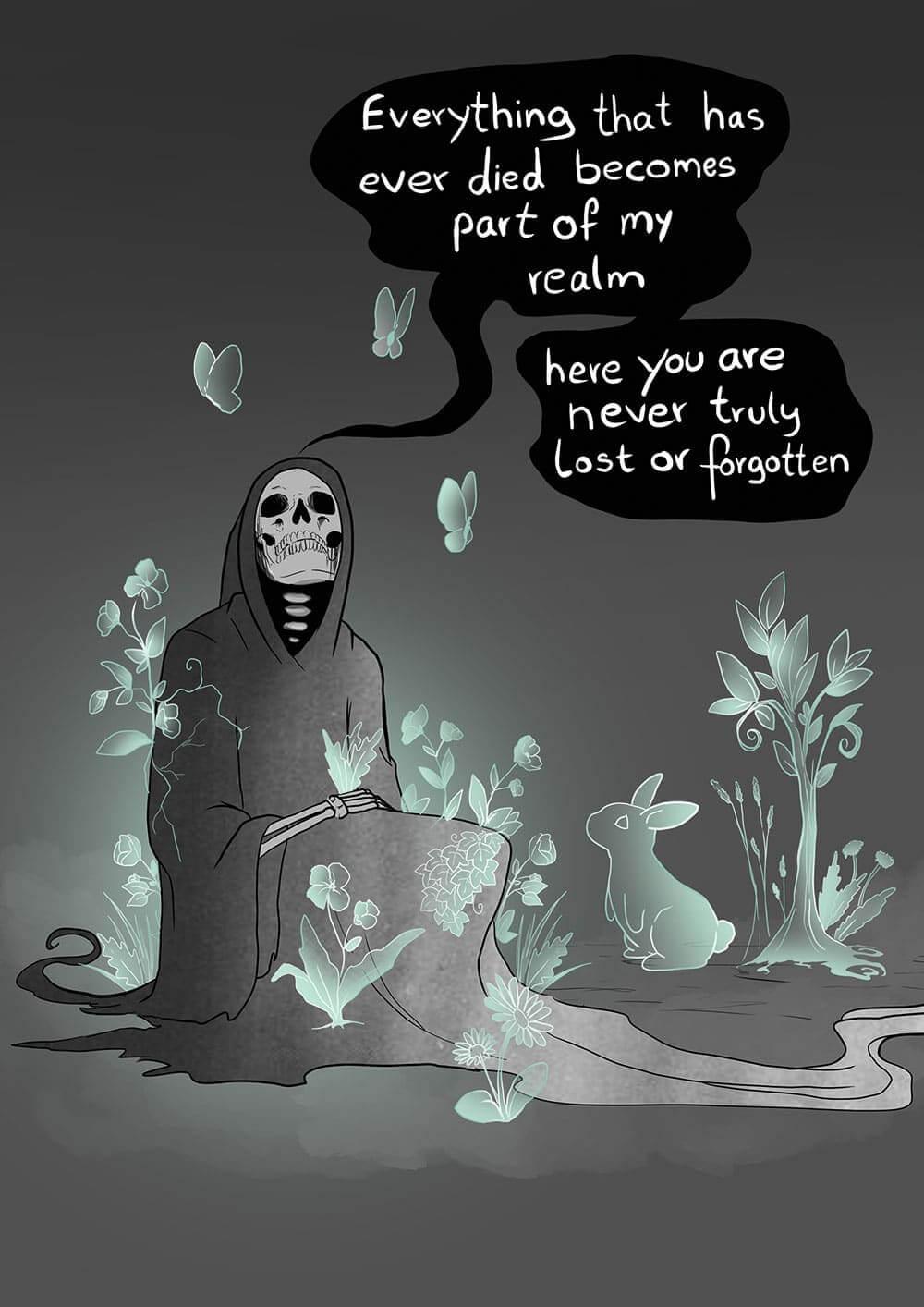 """Der """"Tod"""" und ein Kaninchen"""