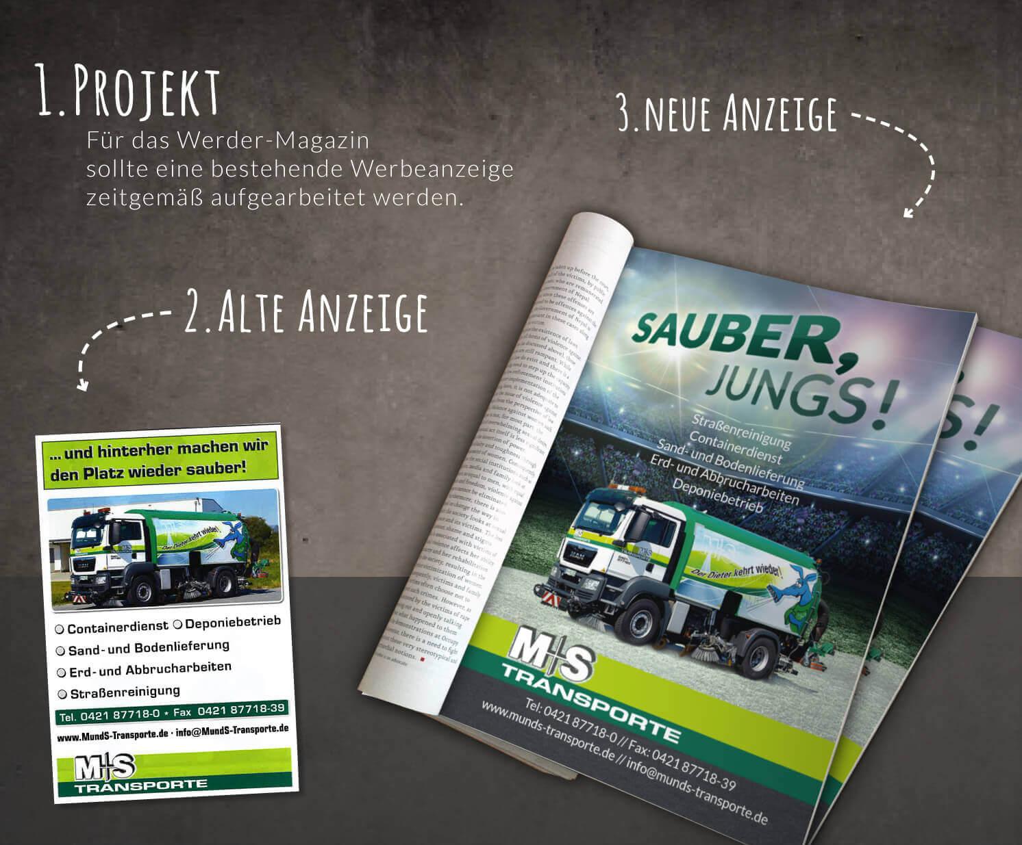 Meyer & Schreiber Unternehmensgruppe Werbeanzeige Werder Magazin