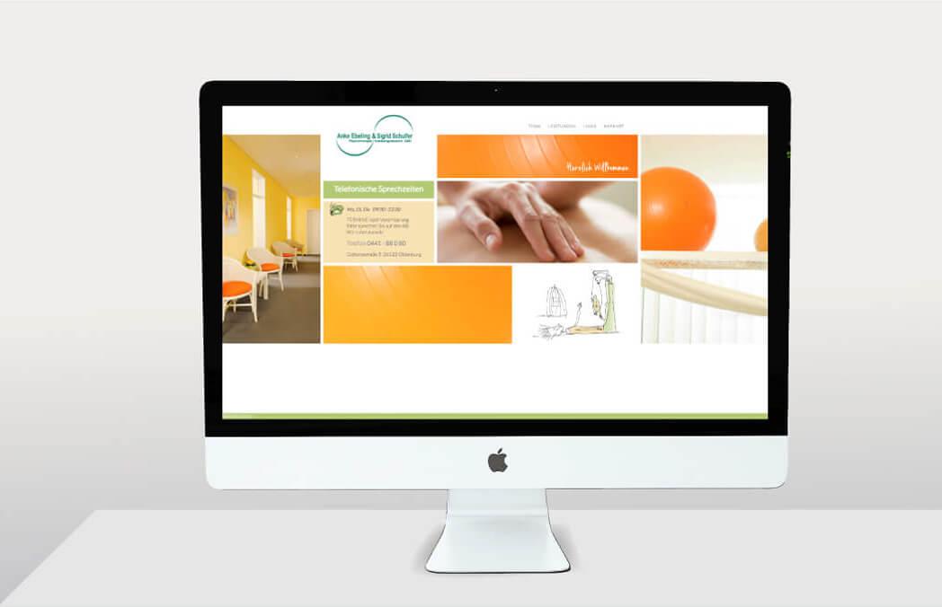 Anke Ebeling & Sigrid Schulfer Physiotherapie Krankengymnastik GbR Website