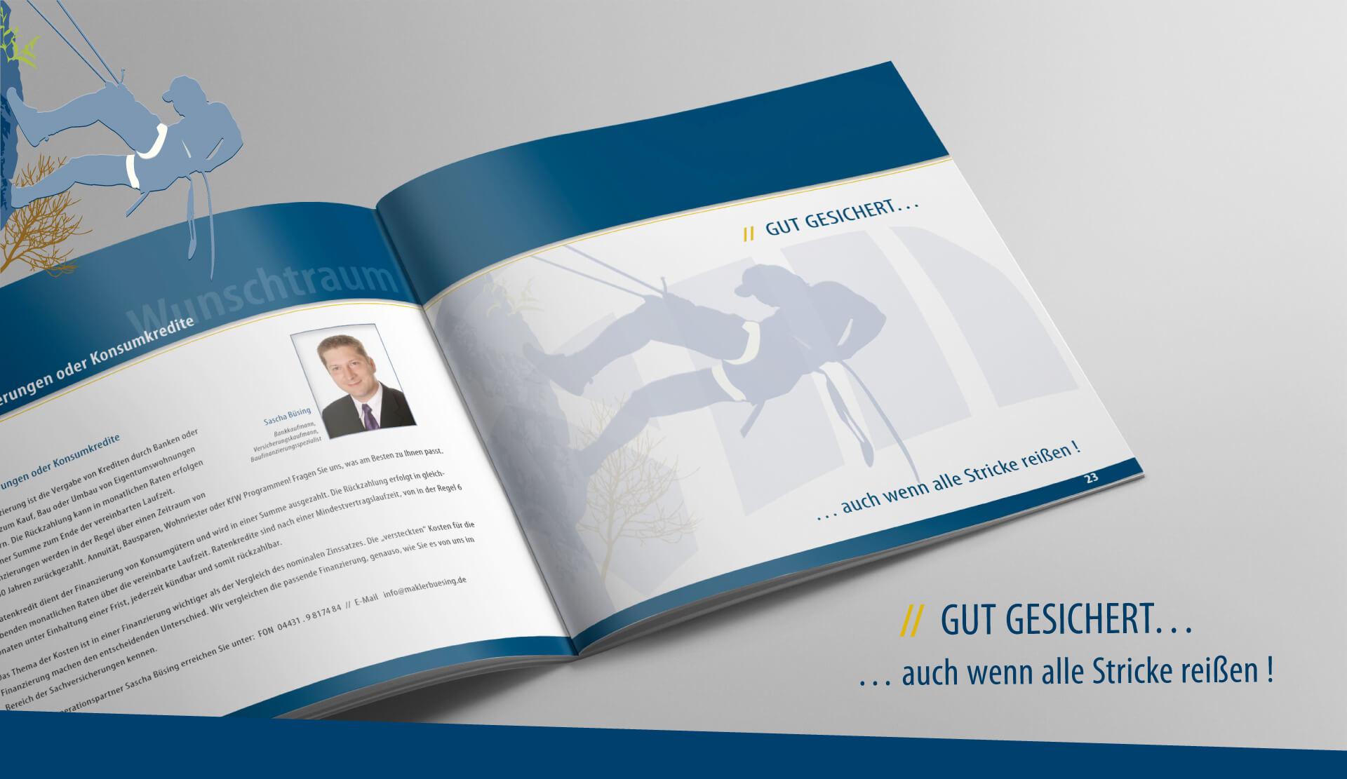 Broschüre Versicherungsmakler Werner Behrens Oldenburg