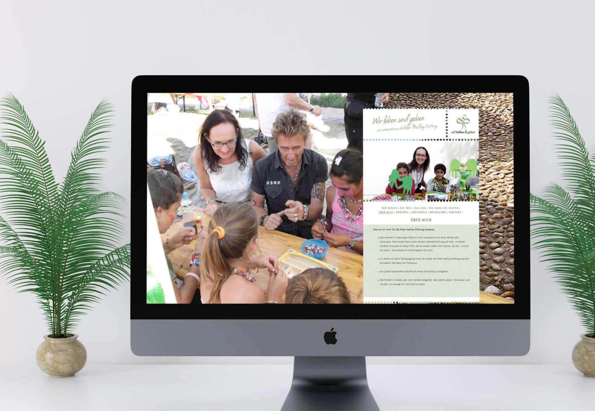 Wir leben und geben Website