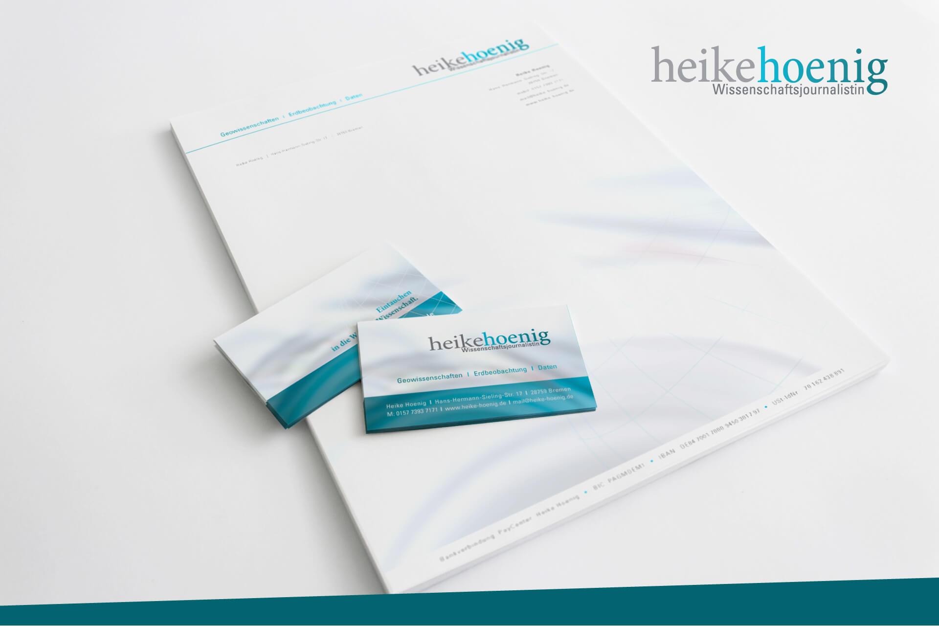 Heike Hoenig Visitenkarten und Briefpapier