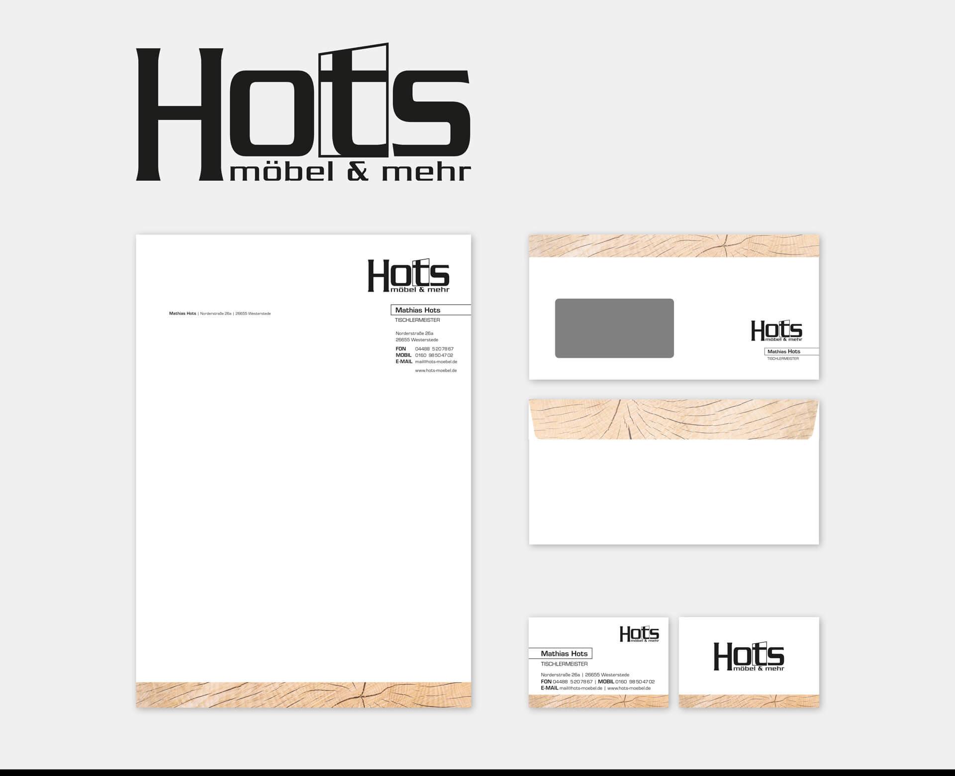 Hots möbel & mehr Briefpapier Briefumschlag Visitenkarte