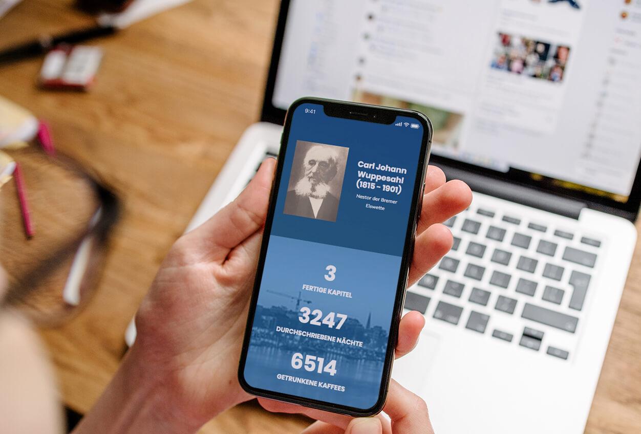 Die Geschichte der Bremer Eiswette Website Mobile Version