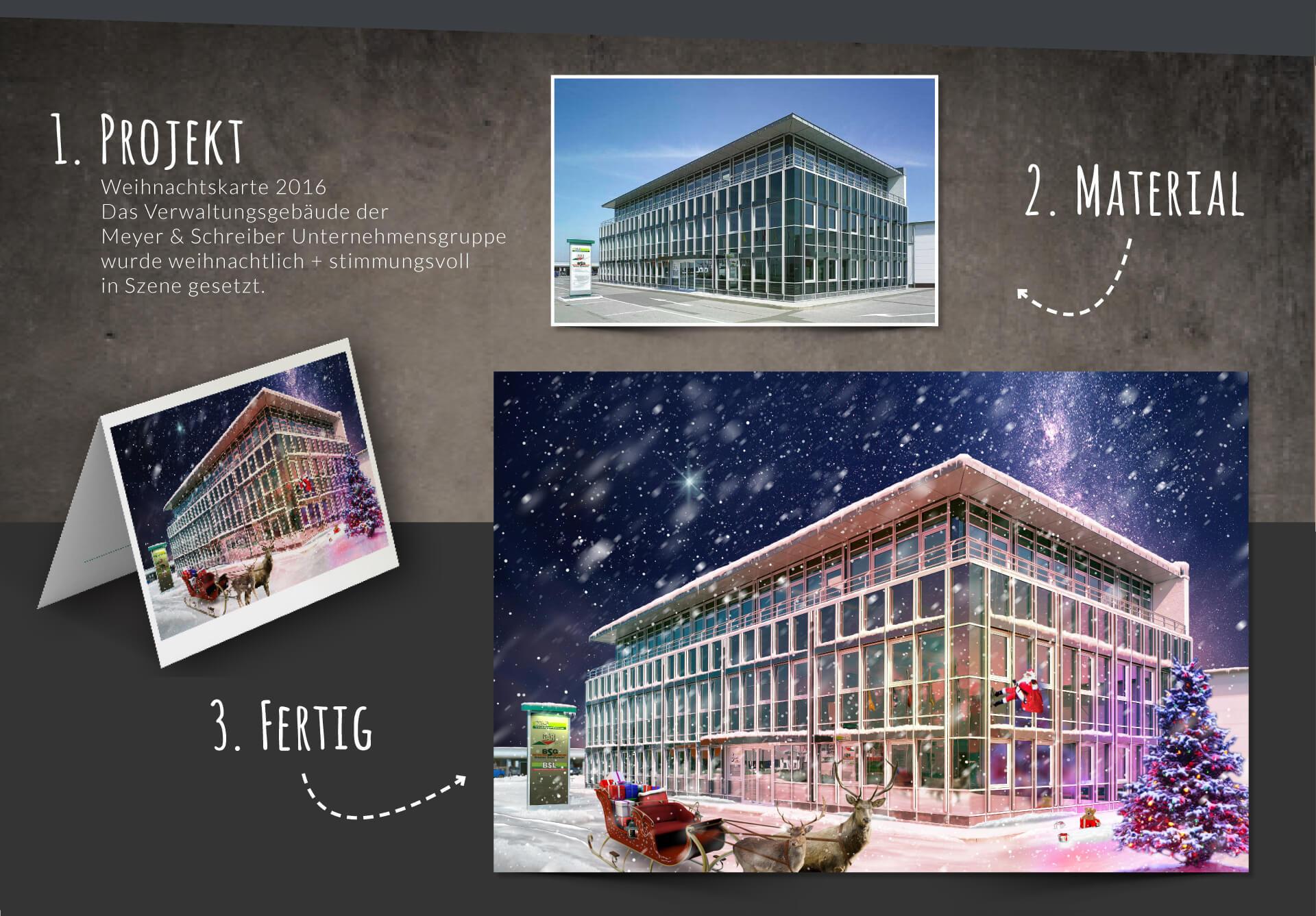 Meyer & Schreiber Unternehmensgruppe Werbeanzeige Weihnachtskarte 2016