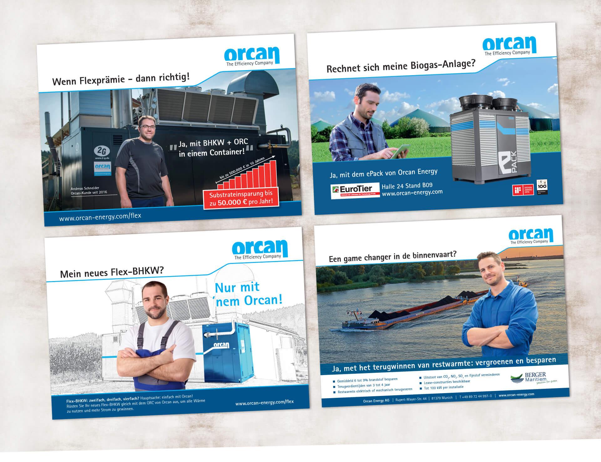 Orcan Energy AG Werbeanzeigen