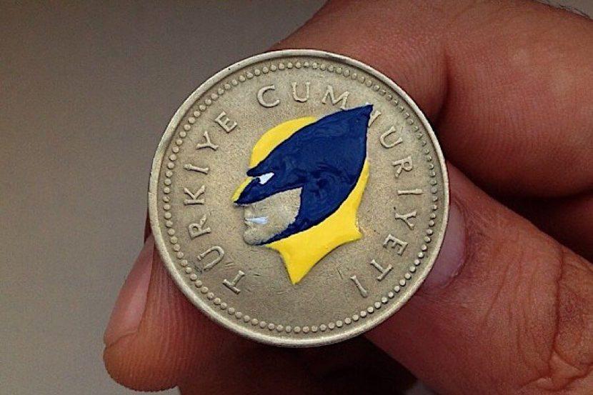 Kopf, Zahl oder Kunst? Andre Levy bemalt Münzen