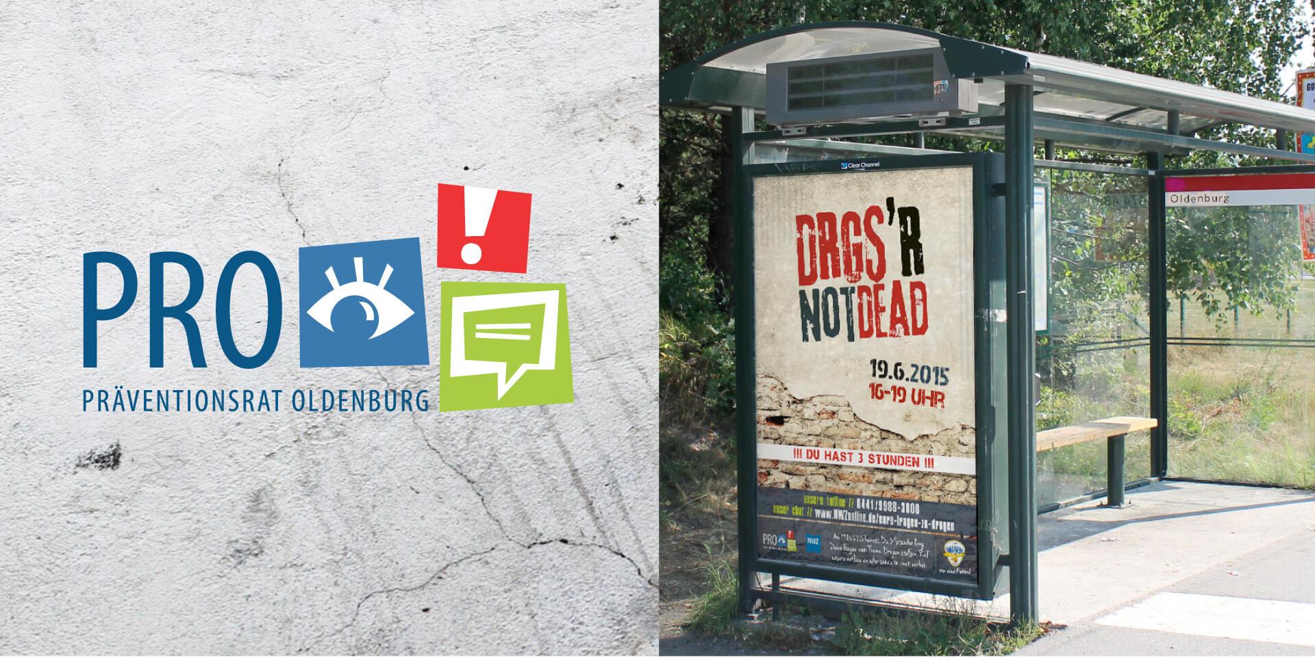 Pro Präventionsrat Oldenburg Kampagne Keine Macht den Drogen