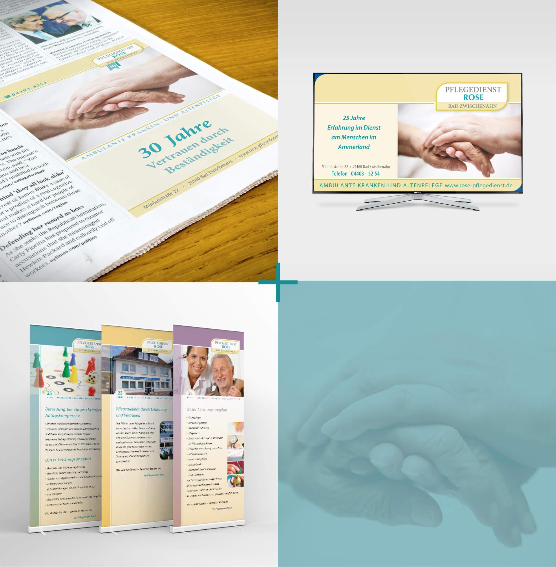 Pflegedienst Rose Bad Zwischenahn Zeitung Anzeige