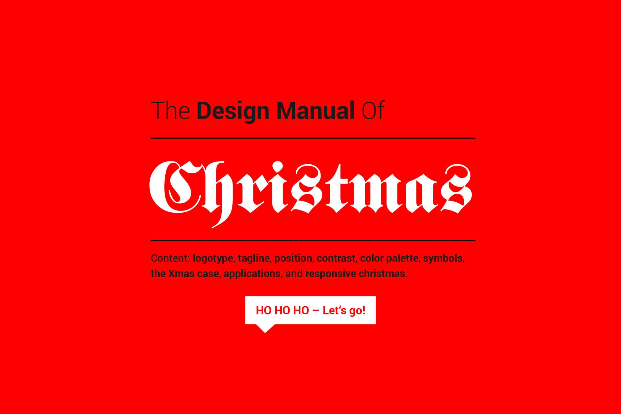 Das ultimative Design Manual zu Weihnachten