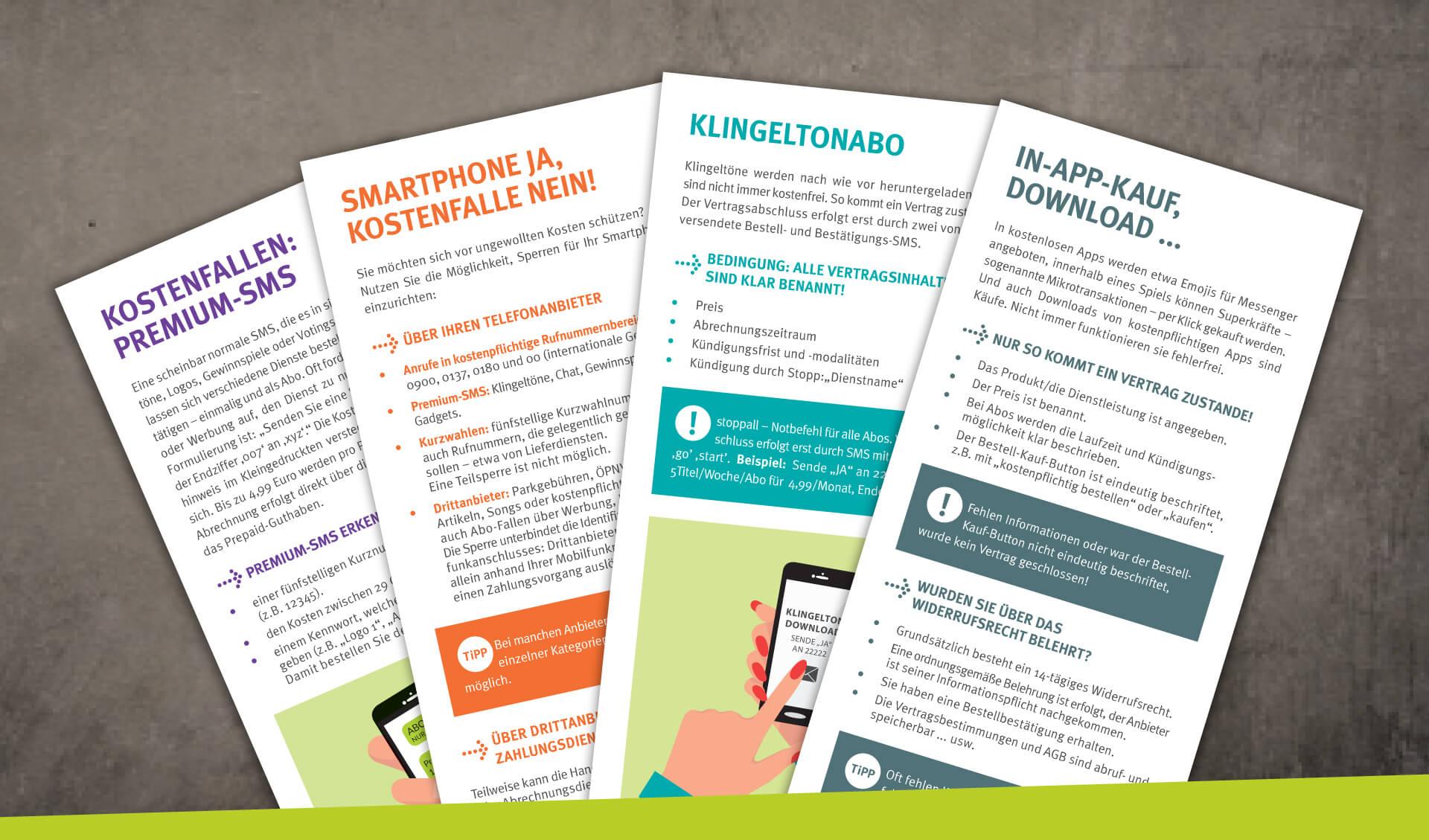 Flyer Kostenfalle Smartphone Verbraucherzentrale Niedersachsen
