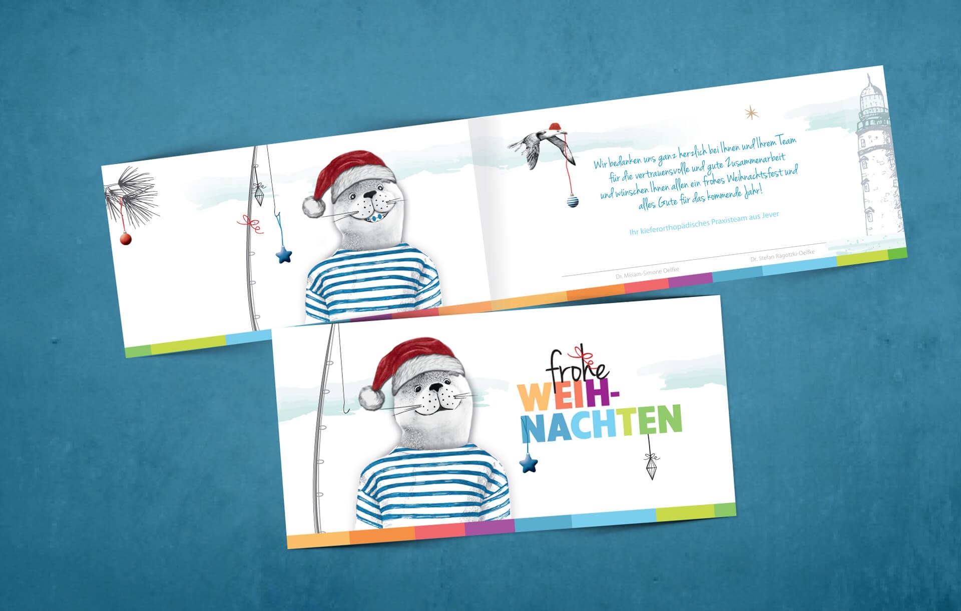 Weihnachtskarte Zahnspange Jever